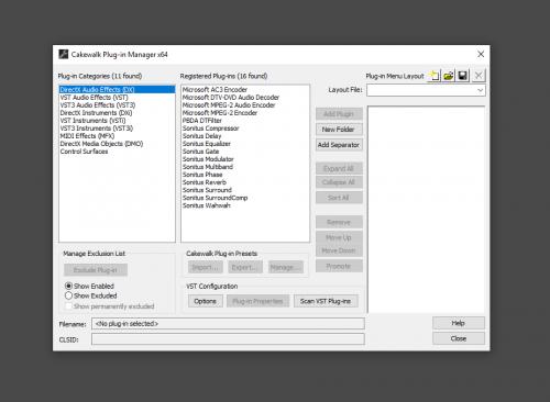 VST Plugin File Location - Instruments & Effects - Cakewalk