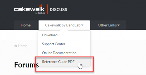 cakewalk user manual
