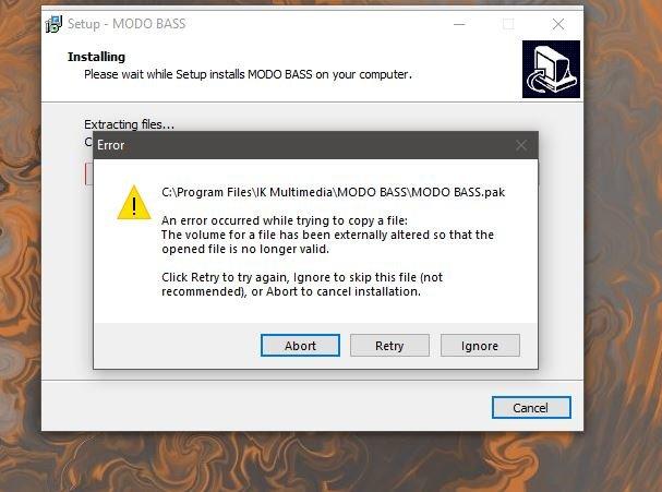 MODO bass install error.JPG